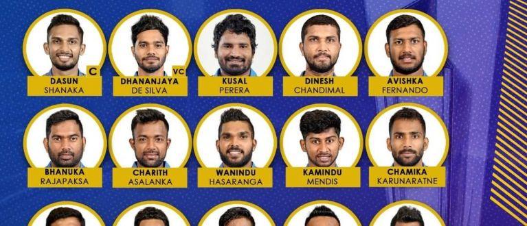 இலங்கை T20 உலகக் கோப்பை அணி அறிவிக்கப்பட்டுள்ளது